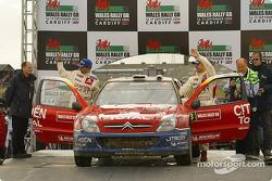 Podium: second place finish for Sébastien Loeb and Daniel Elena