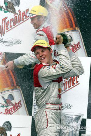 Podium: champagne for Mattias Ekström