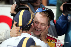 Race winner and DTM 2004 champion Mattias Ekström celebrates