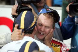 Race winner and DTM 2004 champion Mattias Ekström celebrates