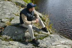 Mattias Ekström entspannt sich