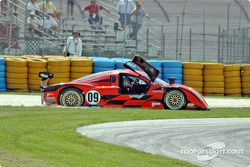 La Chevrolet Crawford n°09 Spirit of Daytona Racing : Doug Goad, Stephane Gregoire en difficulté