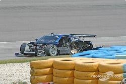 La Porsche Fabcar n°58 Brumos Racing accidentée : David Donohue, Darren Law