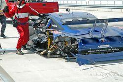 La Porsche Fabcar n°58 Brumos Racing détruite