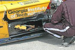 La Pontiac Crawfordn°39 The Spark of Georgia Tech détruite