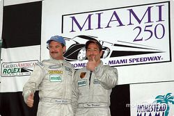 Podium GT : les vainqueurs de classe Kevin Buckler et Tom Nastasi