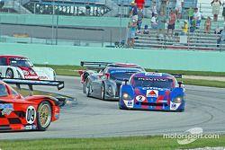 Départ : Pontiac Crawford n°2 Howard - Boss Motorsports : Milka Duno, Andy Wallace