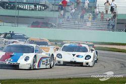 Départ : Porsche Fabcar n°59 Brumos Racing : Hurley Haywood, J.C. France
