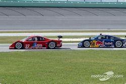La Lexus Doran n°27 Doran Lista Racing : Didier Theys, Kelly Collins, la Porsche Fabcar n°58 Brumos