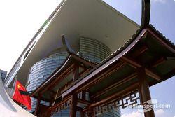 Spectacular architecture at Shanghai International Circuit