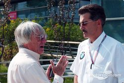 Bernie Ecclestone and Dr Mario Theissen
