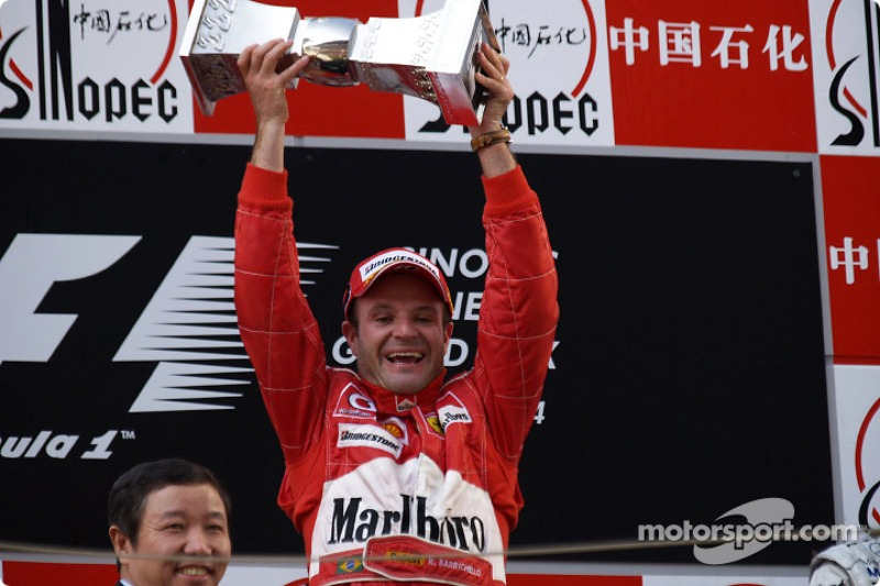 Na China, Rubens Barrichello foi o grande vencedor