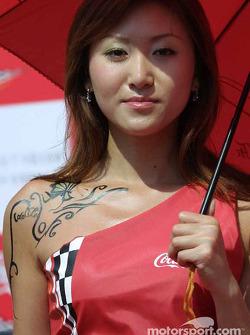 A lovely Coca-Cola girl