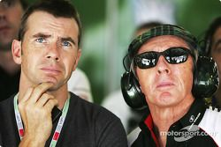 Paul and Jackie Stewart watch qualifying