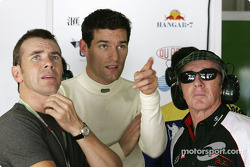 Mark Webber with Paul and Jackie Stewart