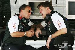 Jaguar's Dave Stubbs and Dave Pitchforth