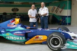 Peter Sauber ve Jacques Villeneuve