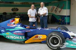 Peter Sauber avec Jacques Villeneuve