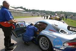 The Carsport America Dodge Viper GTS R on the starting grid