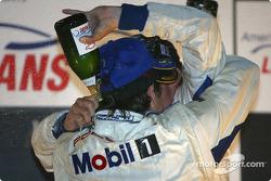 GT podium: champagne shower