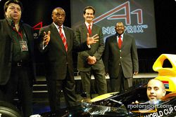 Tony Teixeira (RSA) A1 Grand Prix, Tokyo Sexwale (RSA) Chairman of Mvelaphamda Holdings and A1 Grand Prix South Africa seat holder, Brian Menell (RSA) A1 Grand Prix and Jackie Mphafudi (RSA) Mvelaphanda Holdings