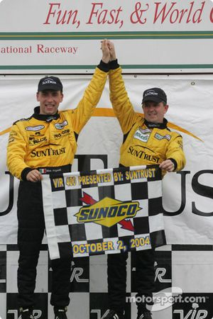 DP podium: overall and class winner Wayne Taylor and Max Angelelli