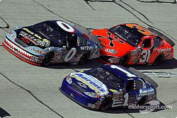 Ward Burton, Kenny Wallace et Robby Gordon
