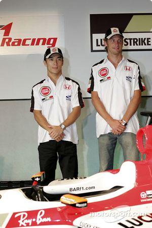 Honda Racing basın toplantısı: Jenson Button ve Takuma Sato