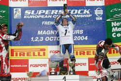Podium : Lorenzo Alfonsi, Didier Vankeymeulen et Kenan Sofuoglu