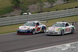 La Porsche GT3 RS n°57 Stevenson Motorsports / Auto Assets : Chip Vance, John Stevenson, n°38 TPC Ra