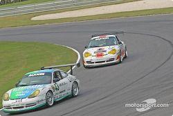 La Porsche GT3 Cup n°43 Orison-Planet Earth Motorsports : Sam Shanaman, Brett Shanaman