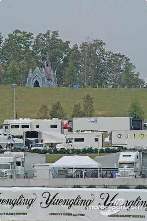 A view of the paddock at Barber Motorsports Park