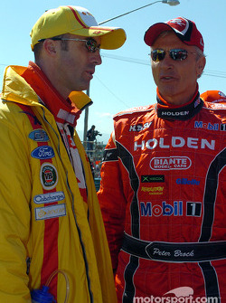 David Brabham and Peter Brock before the start of the Great Race