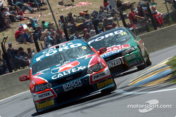 Russell Ingall and John Bowe pushing ahead