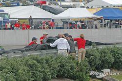 La Porsche GT3 Cup n°37 TPC Racing : John Littlechild, Jean-François Dumoulin dans les pneus