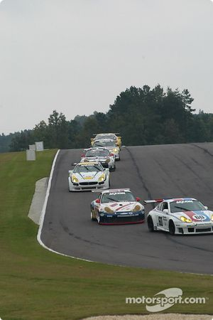 #60 Gunnar Racing Porsche GT3 RS: Gunnar Jeannette, Marino Franchitti, #57 Stevenson Motorsports / Auto Assets Porsche GT3 RS: Chip Vance, John Stevenson