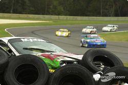 #37 TPC Racing Porsche GT3 Cup: John Littlechild, Jean-François Dumoulin in the tires