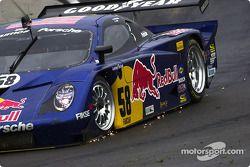 Des étincelles sur la Porsche Fabcar n°58 Brumos Racing : David Donohue, Darren Law