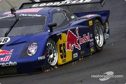 Sparks on the #58 Brumos Racing Porsche Fabcar: David Donohue, Darren Law