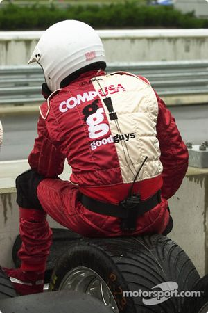 CGR crew member waits for the end of the race