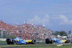 Jacques Villeneuve y Fernando Alonso