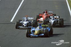 Jacques Villeneuve, Juan Pablo Montoya, Kimi Raikkonen y Rubens Barrichello