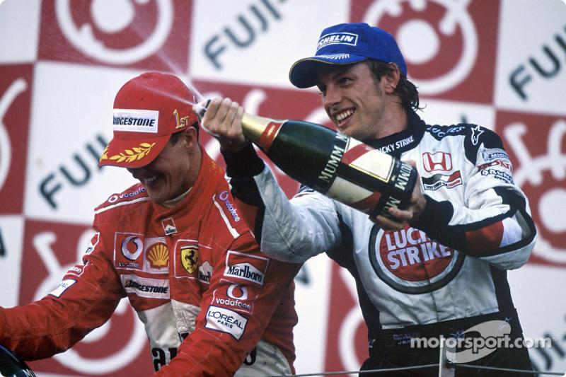 O britânico Jenson Button chegou em segundo com a BAR