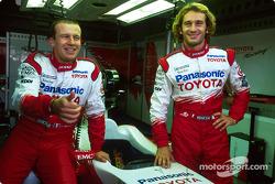 Olivier Panis conmemora final Grand Prix con Jarno Trulli