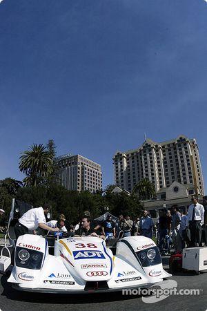 The Sixth Annual Mini Le Mans of San Jose: ADT Champion Racing Audi in Plaza de Cesar Chavez