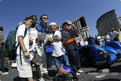 The Sixth Annual Mini Le Mans of San Jose: Nicolas Minassian with the kids