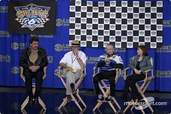 Mark Martin's salute to you press conference: NASCAR COO Mike Helton, Jack Roush, Mark Martin and his wife