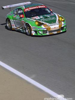 La Porsche 911 GT3 RSR n°67 The Racers Group : Pierre Ehret, Robert Julien