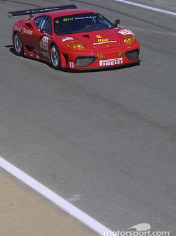 La Ferrari 360 Modena GTC n°35 Risi Competizione : Ralf Kelleners, Anthony Lazzaro, Fabrizio De Simo