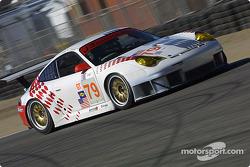 La Porsche 911 GT3 RSR n°79 J-3 Racing : Tim Sugden, Justin Jackson